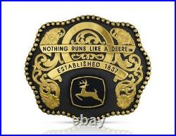 Montana Silversmiths Belt Buckle Mens John Deere Studded 1837 1953JD