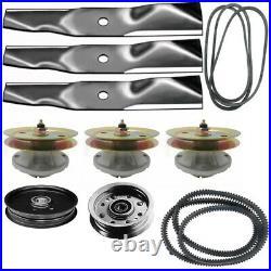 Mower Deck Rebuild Kit Spindle Belt Blades Fits John Deere 325 335 345 355D With54