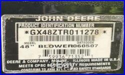 Nice Used John Deere 48 Power Flow Blower Attachment GX48ZTR011278