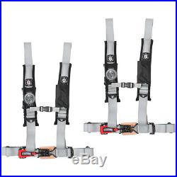 Pro Armor 4 Point Harness 2 Pads Seat Belt Silver Pair Polaris RZR XP 1000 900