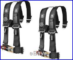Pro Armor 4PT 3 Harness Can-Am Maverick Commander Defender X3 1000 800 BLK PAIR