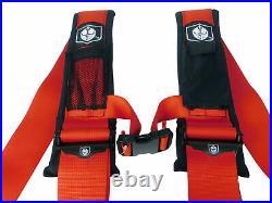 Pro Armor 4PT 3 Harness Can-Am Maverick Commander Defender X3 1000 800 RED PAIR