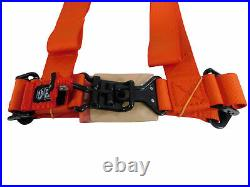 Pro Armor Seat Belt Harness 4PT 2 Padded Arctic Cat Wildcat Prowler ORANGE PAIR