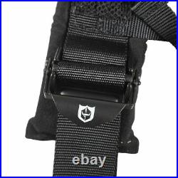 Pro Armor Seat Belt Safety Harness 4PT 3 Padded RZR Rhino Can Am BLACK (PAIR)