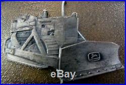 RARE! John Deere 450 Crawler Dozer 4-Leg 1966 Deer Belt Buckle