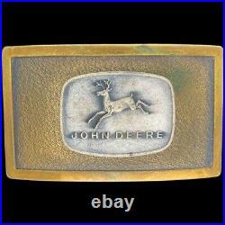 Rare 1968 John Deere Tractor 4 Leg Deer Logo Ncm Co Jd Vintage Belt Buckle