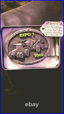 Rare Find 2002 John Deere Expo 1 Pewter Belt Buckle Master 1 Of 2 Ever Produced
