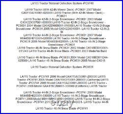 Spindle Blade Belt Kit Fits John Deere LA100 LA105 LA110 LA115 LA120 LA125 LA135