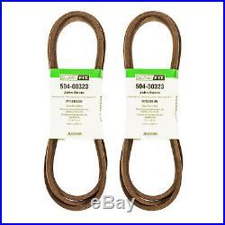SureFit Deck Drive Belt John Deere M126536 LT150 LT155 LT160 LT166 LT180 2PK