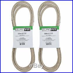 SureFit Deck V-Belt John Deere M154960 GX325 GX345 LX280 X320 X500 120-3/4 2PK