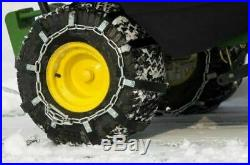 Tire Chains 23x10.5x12 John Deere 345 GT275 425 212 1435 2WD Toro 520xi Tractor