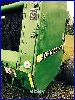 Used 1999 John Deere 456 Round Hay Baler New Belts 540 PTO Green